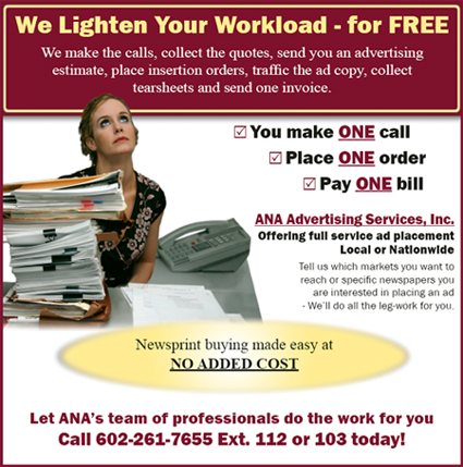Arizona Newspaper Association advertising services