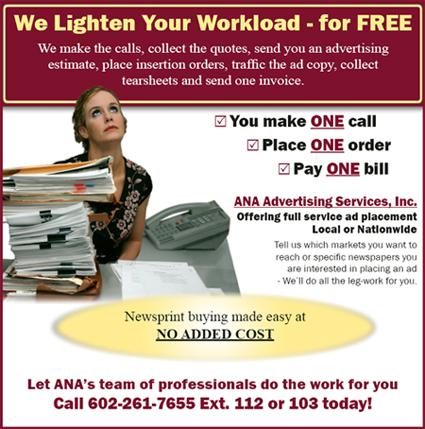 Arizona Newspaper Association advertising services