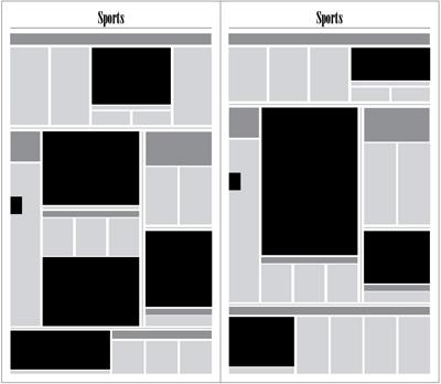 graphic of newspaper layout henninger column